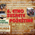 U nedjelju, 20. listopada održavaju se 6. Etno susreti Požeštine i 6. Čvarkijada
